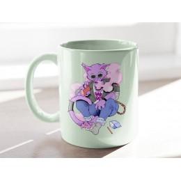 Pink Vaper Cat Baskılı Mug